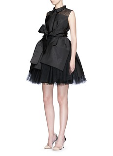 DELPOZOSash bow layered tulle dress