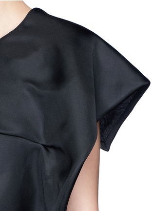 Detail View - Click To Enlarge - DELPOZO - Foldover square sleeve silk gazar cropped top