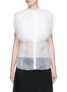 DELPOZOLayered circle bib organdy shirt