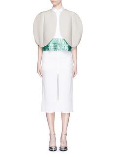 DELPOZOJute-silk cropped circular jacket