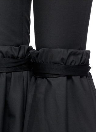 Detail View - Click To Enlarge - Ellery - 'Rockface' drawstring overlay wide flare pants