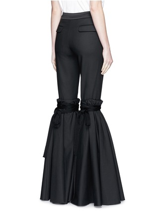 Back View - Click To Enlarge - Ellery - 'Rockface' drawstring overlay wide flare pants