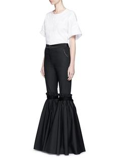 ELLERY'Rockface' drawstring overlay wide flare pants