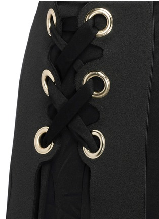 Detail View - Click To Enlarge - Ellery - 'Pont Neuf' lace-up satin crepe maxi skirt