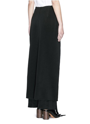 Back View - Click To Enlarge - Ellery - 'Pont Neuf' lace-up satin crepe maxi skirt