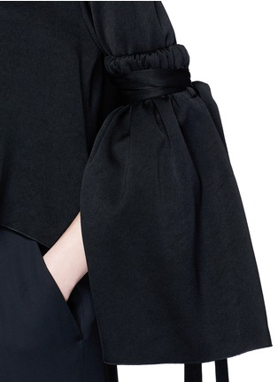 Detail View - Click To Enlarge - Ellery - 'Mountainous' cone sleeve crepe cropped top