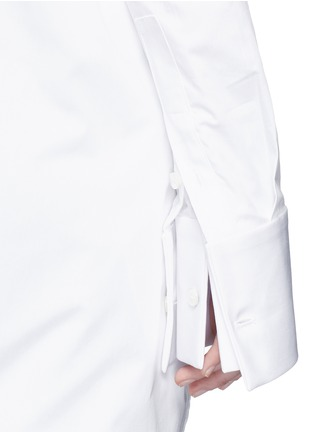 Detail View - Click To Enlarge - Ellery - 'Castelli' asymmetric cold shoulder deconstructed shirt