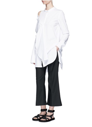 Figure View - Click To Enlarge - Ellery - 'Castelli' asymmetric cold shoulder deconstructed shirt