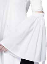 'Cyril' cutout cone sleeve off-shoulder cotton poplin top