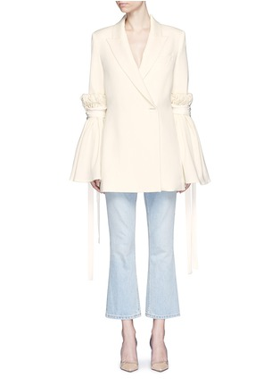 Main View - Click To Enlarge - Ellery - 'Tenacity' detachable cone sleeve asymmetric blazer