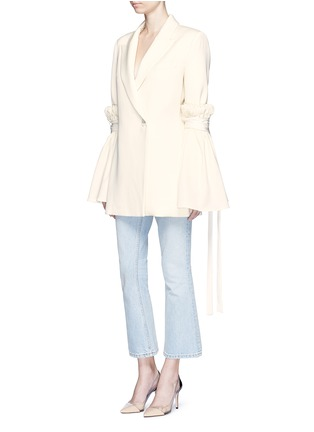 Figure View - Click To Enlarge - Ellery - 'Tenacity' detachable cone sleeve asymmetric blazer