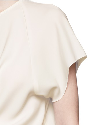 Detail View - Click To Enlarge - Ellery - 'Kitty' tie front crepe top