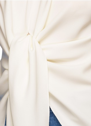 Ellery-'Kitty' tie front crepe top
