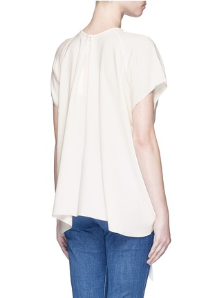 Back View - Click To Enlarge - Ellery - 'Kitty' tie front crepe top
