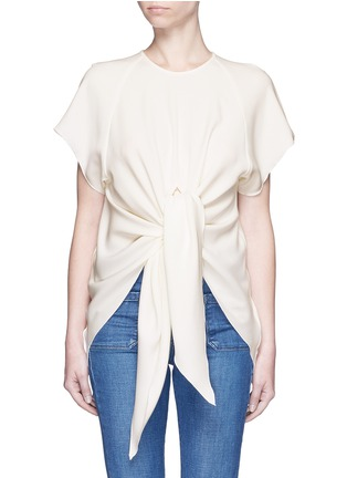 Main View - Click To Enlarge - Ellery - 'Kitty' tie front crepe top
