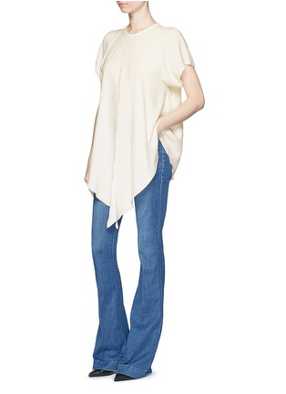 Figure View - Click To Enlarge - Ellery - 'Kitty' tie front crepe top