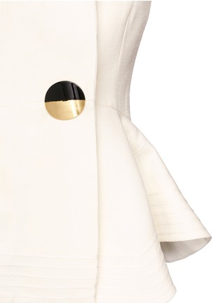 Detail View - Click To Enlarge - Roksanda - 'Sienna' peplum double crepe jacket