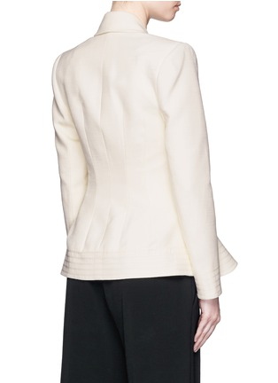 Back View - Click To Enlarge - Roksanda - 'Sienna' peplum double crepe jacket