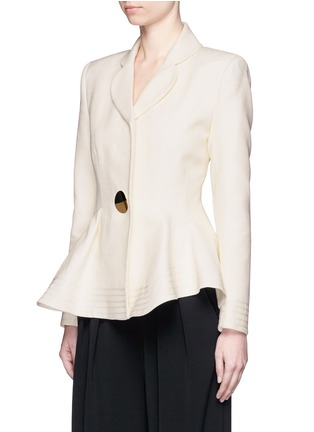 Front View - Click To Enlarge - Roksanda - 'Sienna' peplum double crepe jacket