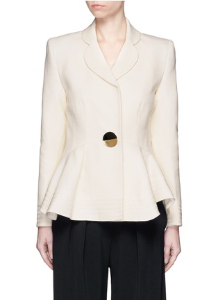 Main View - Click To Enlarge - Roksanda - 'Sienna' peplum double crepe jacket