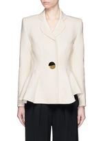 'Sienna' peplum double crepe jacket