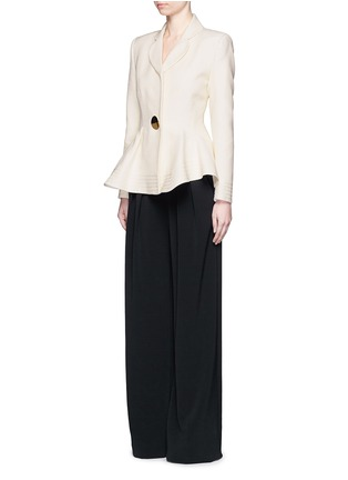 Figure View - Click To Enlarge - Roksanda - 'Sienna' peplum double crepe jacket