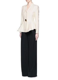 ROKSANDA'Sienna' peplum double crepe jacket