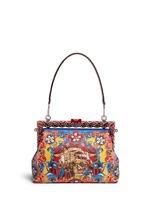 'Vanda' Carretto Siciliano print leather clutch