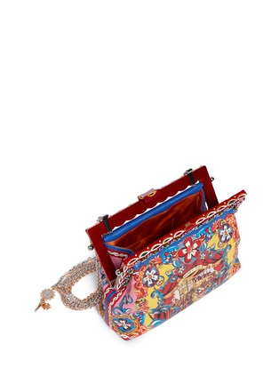 Dolce & Gabbana - 'Vanda' Carretto Siciliano print leather clutch