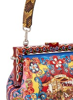 'Vanda' Carretto Siciliano print leather clutch
