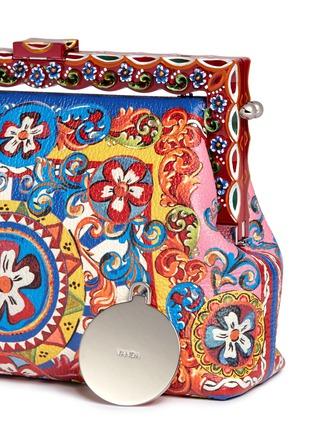 - Dolce & Gabbana - 'Vanda' Carretto Siciliano print leather clutch