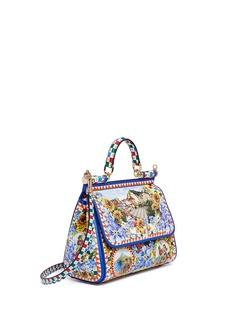 Dolce & Gabbana 'Miss Sicily' medium Carretto artwork print Dauphine leather satchel