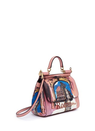 Figure View - Click To Enlarge - Dolce & Gabbana - 'Miss Sicily' medium Roma print Dauphine leather satchel