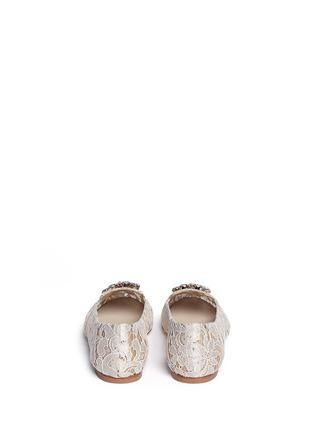 Dolce & Gabbana-Jewel brooch Taormina lace flats