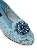 Jewel brooch Taormina lace flats
