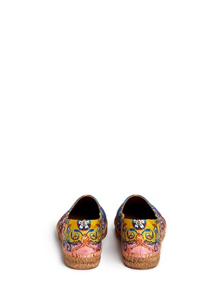 Back View - Click To Enlarge - Dolce & Gabbana - Sicilian Carretto print floral brocade espadrilles