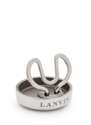 Detail View - Click To Enlarge - Lanvin - Geometric engraved brass button covers