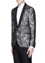 Splash Lurex jacquard wool blazer