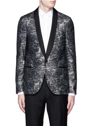 Lanvin-Splash Lurex jacquard wool blazer