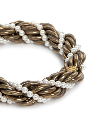 Detail View - Click To Enlarge - Lanvin - 'Virna' glass pearl twist bracelet