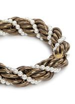 'Virna' glass pearl twist bracelet
