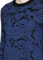 Reversible splash jacquard cotton-wool sweater