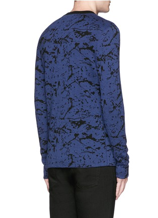 Back View - Click To Enlarge - Lanvin - Reversible splash jacquard cotton-wool sweater