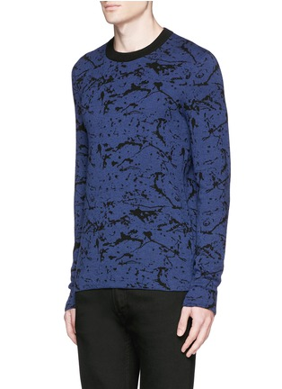 Front View - Click To Enlarge - Lanvin - Reversible splash jacquard cotton-wool sweater