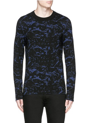 Main View - Click To Enlarge - Lanvin - Reversible splash jacquard cotton-wool sweater