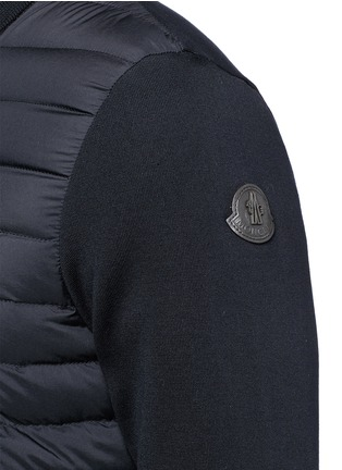 Detail View - Click To Enlarge - Moncler - Quilted down front zip cardigan