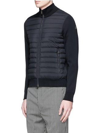 Front View - Click To Enlarge - Moncler - Quilted down front zip cardigan