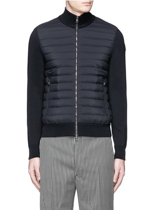 Main View - Click To Enlarge - Moncler - Quilted down front zip cardigan