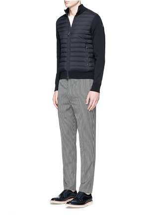 Figure View - Click To Enlarge - Moncler - Quilted down front zip cardigan