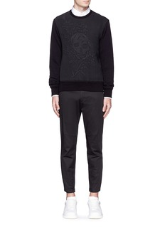 Alexander McQueenFloral skull jacquard organic cotton sweatshirt